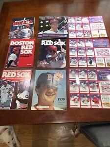 BOSTON RED SOX Yearbooks, Magazines And Uncut Card Sheets 1976, 1977, 1979