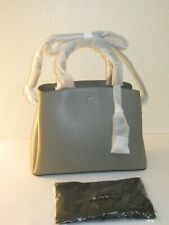 DKNY Clay Gray Leather Large Paige Satchel Convertible Bag $248