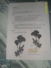 Klöppeln Klöppelbrief 408 Rose für Aufsteller Klöppelbed.Handarbeit Dekoration