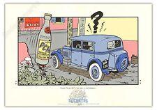 Affiche Serigraphie BD SPIROU ET FANTASIO Franquin Pschitt Archives 35x50 cm