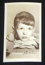 George Winslow 1940's 1950's Actor's Penny Arcade Photo Card