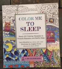 Color Me To Sleep (Floral Mandala, Architecture) Adult Coloring Book BN Grown Up