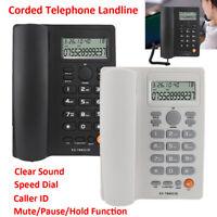 Corded Telephone Desktop Home Office Phone Caller ID Handsfree Call ID Landline