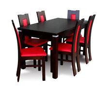 Modernes Esszimmer Tisch Stuhl Set Tische + 6 Stühle Designer Essgarnitur Holz