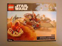 LEGO NEW Star Wars 75174 Desert Skiff INSTRUCTIONS ONLY Sarlacc Jabba Tatooine