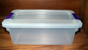 One Sterilite 17511712 6-Quart ClearView Latch Box Storage Tote Container