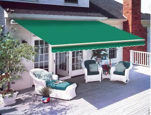 Patio DIY Manual Awning Garden Canopy Sun Shade Retractable Shelter Top Fabric H