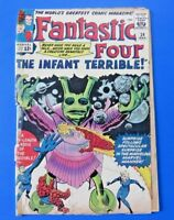 FANTASTIC FOUR #24 COMIC BOOK ~ 1964 MARVEL SILVER AGE ~ G/VG