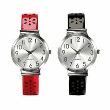BNIB Avon Flower Perforated Strap Watch in Black