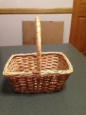 """Small Wicker Basket with Handle - 8"""" x 6"""" (#1-20)"""