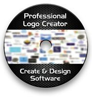 PRO LOGO MAKER CREATOR DESIGN SOFTWARE CD - WINDOWS VISTA ,7,8,10