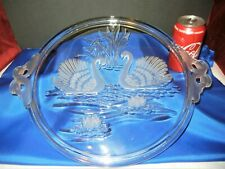 MIKASA DOUBLE SWAN HANDLED LARGE TRAY PLATTER FROSTED WALTHER GERMANY