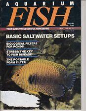 Aquarium Fish: Magazine April 1990 -  Saltwater Setups - Filter for Ponds