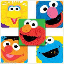 SESAME STREET Stickers x 5 - Party Supplies, Reward, Favours - Elmo/Big Bird