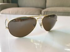 Vintage B&L USA Ray Ban Gold Aviator Mirror G-15 Glass Lens Sunglasses 58mm