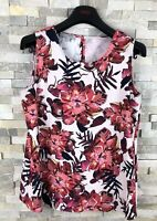 Hobbs Ladies Size 10 Red Floral Top Sleeveless
