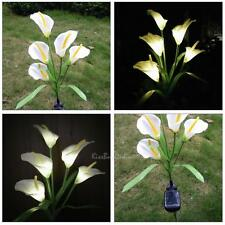 5 LED Solar Power Horseshoe Flower Garden Landscape Lamp Yard Lawn Light Decor