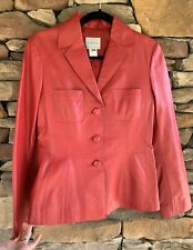 Adec 2 by Philip Adec Red Leather Blazer Size 4 / 38