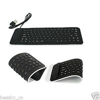 Mini USB Flexible Silicone Keyboard Foldable for Laptop PC Notebook Portable Hot