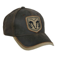 Ram Weathered Cotton Cap Dark Brown/Khaki Hat Hunting Fishing Hat RAM06B