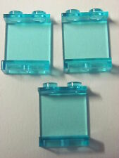 LEGO 4864 @@ Panel 1 x 2 x 2  (x3) @@ TRANS LIGHT BLUE @@ BLEU CLAIR TRANSPARENT