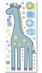 Lambs & Ivy Zootopia Wall Appliques Large Giraffe Sticker Boy Nursery Blue Green