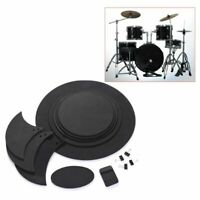 10Pcs Drum Mute Pads Head Pad & Sound Off Blocks Belt Mat for Drum Practice Set