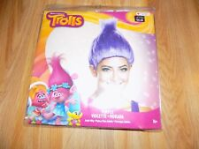 Adult One Size Dreamworks Trolls Purple Violet Troll Costume Wig Disguise New