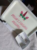 Marijuana Mama Rolling Tray Set, Ashtray, Lighter