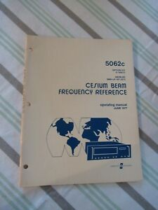 COLLECTABLE RARE HP HEWLETT PACKARD 5062C FREQUENCY STANDARD MANUAL 1977 &BIBLI