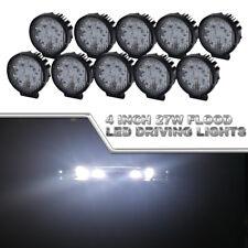 10x 4inch Round LED Work Lights Flood Fog Light Pickup UTV ATV Boat Marine Light