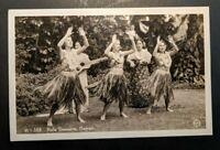 Mint Vintage Hula Dancers Hawaii Real Photo Postcard RPPC
