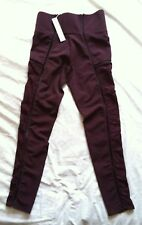 NWTG Jonathan Simkhai CARBON 38 MAROON Lace Up Leggings SZ L SUPER CUTE USA MADE