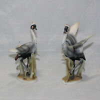 Lot of 2 Pair of Vintage Lefton Made in Japan Crane Figurines Hand Painted