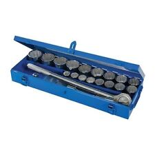 Silverline Steckschlüsselsatz 3/4 Zoll Ratschenkasten 21-tlg. Set 12 Kant Nüsse