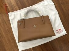 Brand New Spring 2014 Coach Borough Saffiano Leather  Large Brown Tote Bag