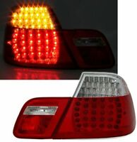 CLEAR LED REAR TAIL LIGHTS LAMPS BMW E46 3 SERIES PRE-FACELIFT COUPE 99-2003 TY7