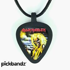 Guitar Pick Necklace by Pickbandz PICK HOLDER in Black w/LTD Iron Maiden Pick