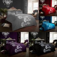 Dream Smile Sparkle Luxurious Duvet Covers Quilt Covers Reversible Bedding Sets