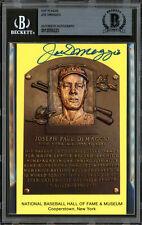 Joe DiMaggio Autographed Signed HOF Plaque Postcard Yankees Beckett 12059223