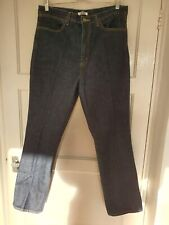 Mens Uniqlo U Straight Denim Jeans Dark Blue - W31
