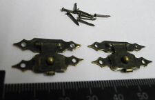 Pack of 10 metal buckles catches latches for small boxes etc antique finish C011