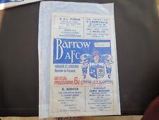 Barrow V Colchester   1967/8