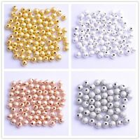 Silver/Gold/Black Round Stardust Copper Ball Spacer Beads 4mm 6mm 8mm 10mm