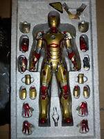 Hot Toys Iron Man 3 Mark XLII MK 42 DIECAST MMS197 IRONMAN METAL READ DESCRIPTIO
