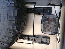Jeep Wrangler Billet Aluminum Tailgate Hinges in Black. TJ Rubicon LJ Sport