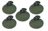 5 x Green Coated 1.5oz Easy Running Back Lead Weights For Carp Fishing Tackle