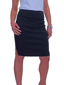 ICE (2210) Stretch Pencil Skirt School Office Navy Blue Sizes 6-18
