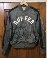 Duffer Of St George Mens Bomber Jacket M Green London Coat MA-1 Flight Vintage