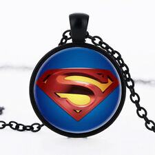 DC Comics Superman Supergirl Superhero Glass Necklace Pendent Jewellery Gift Bag